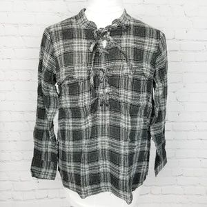 Madewell Terrence Laceup Shirt in Owens Plaid